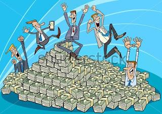 Resultado de imagem para caricatura de bolada de dinheiro
