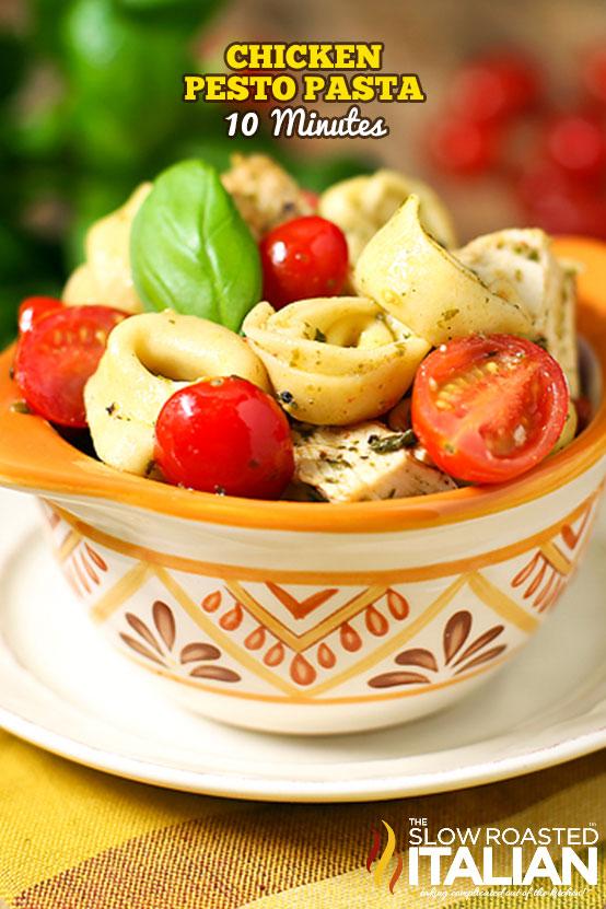 Chicken Pesto Pasta Tortellini Recipe