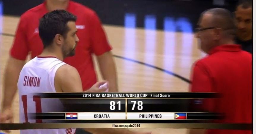 2014 FIBA Basketball World Cup Final Score Croatia vs Philippines