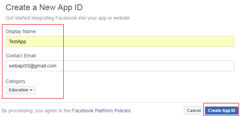 asp net web api create facebook authentication