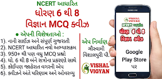 NCERT Std. 6-7-8 SciQuiz Gujarati Android App by Vishal Vigyan