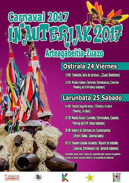 Cartel de carnaval de Arteagabeitia-Zuazo