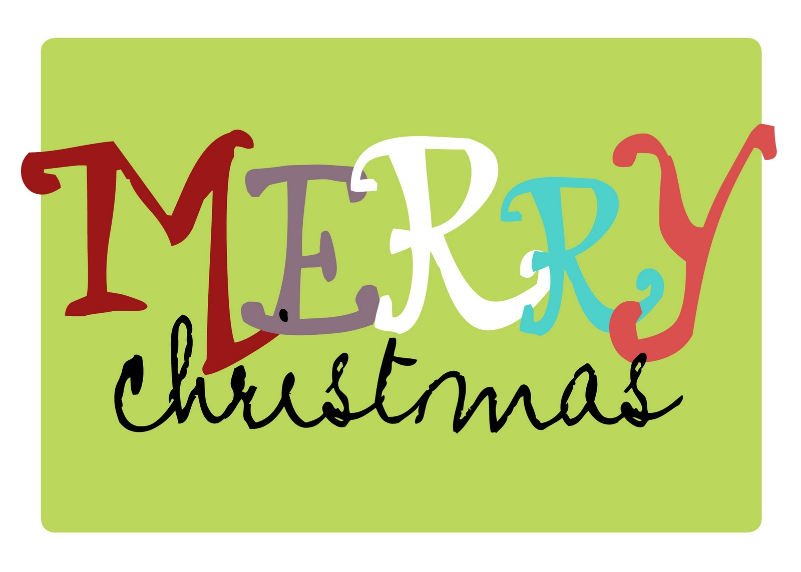 Resource image for merry christmas printable