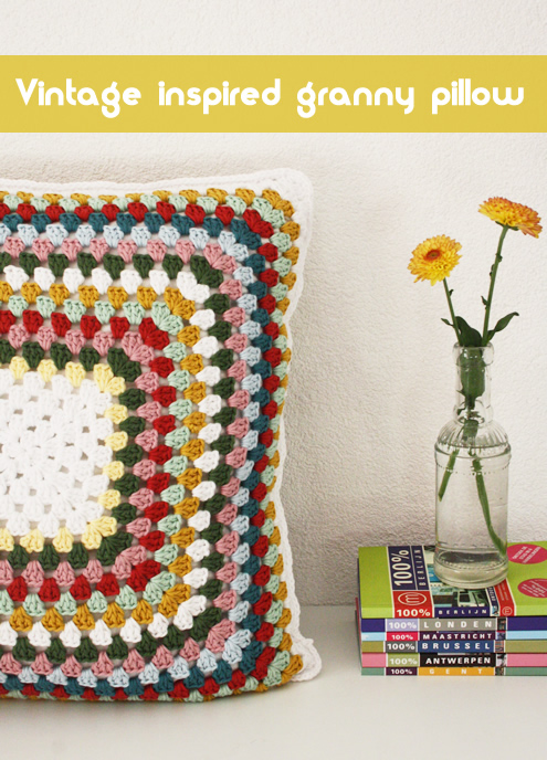 granny square pillow case