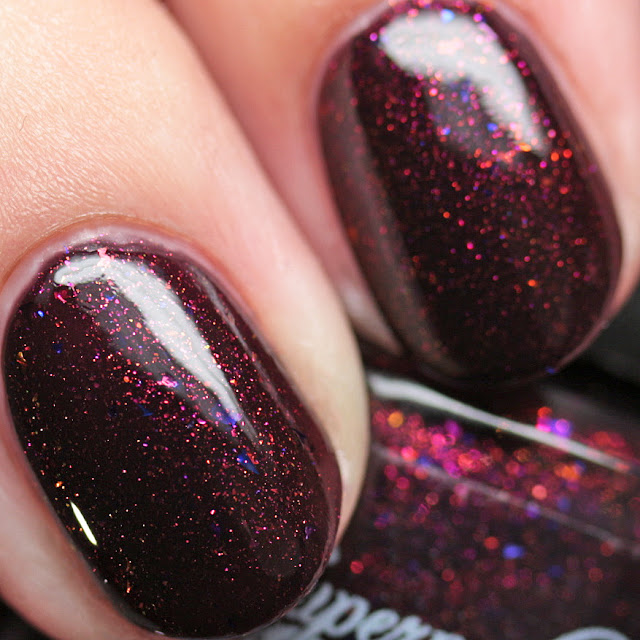 Supernatural Lacquer Moon's Out, Brooms Out! with top coat