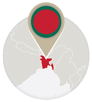 Bangladeshi flag and map