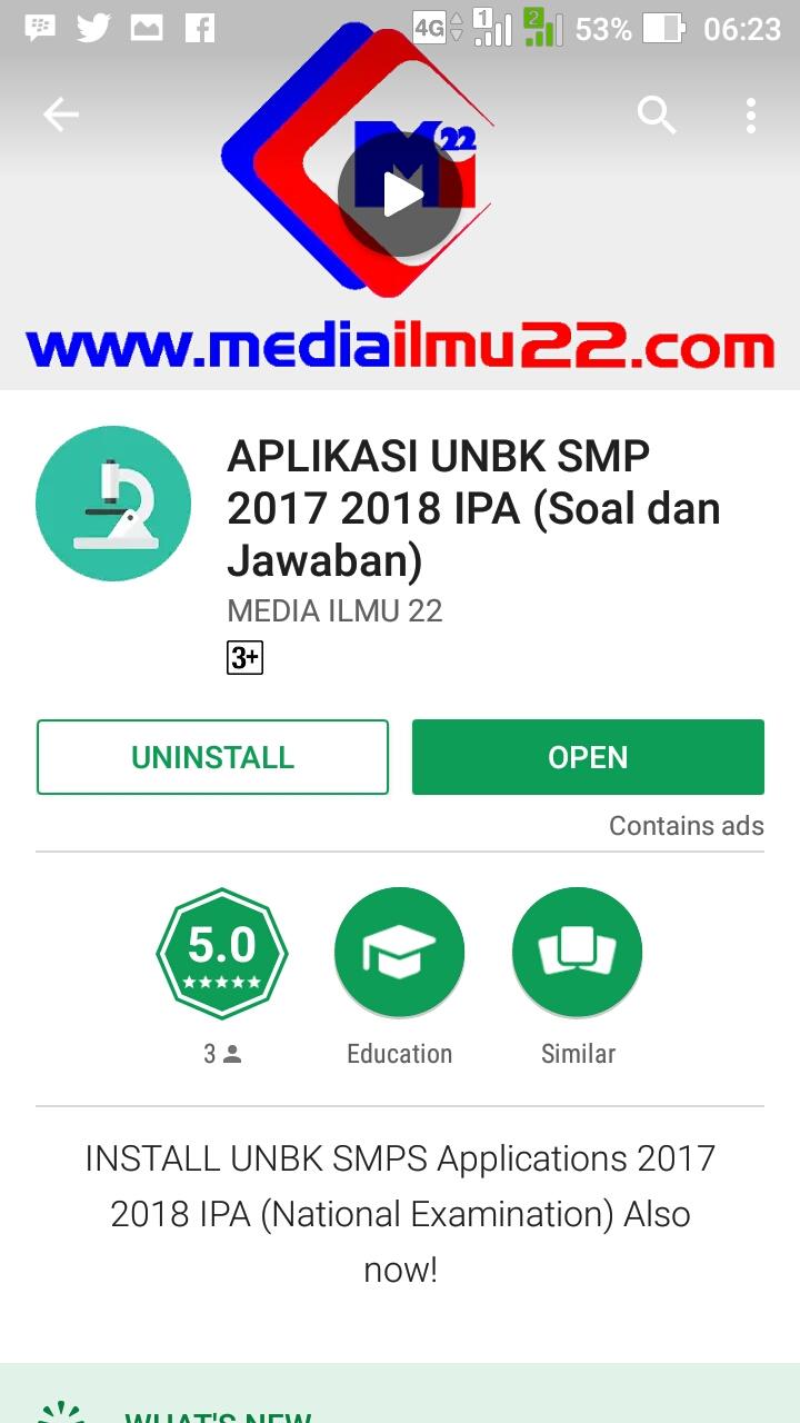 Aplikasi Simulasi Unbk Smp 2018 : aplikasi, simulasi, Aplikasi, Simulasi, Gratis, MediaIlmu22