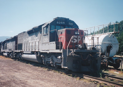 Southern Pacific SD40T-2 #8268 in Oakridge, Oregon, on July 18, 1997