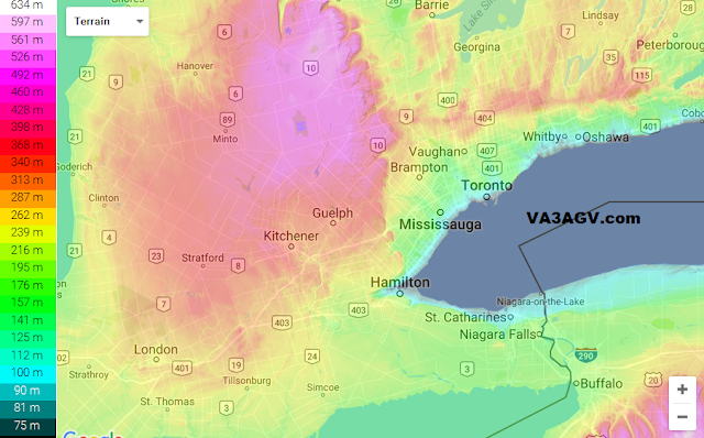 Toronto Topographic Map VA3AGV