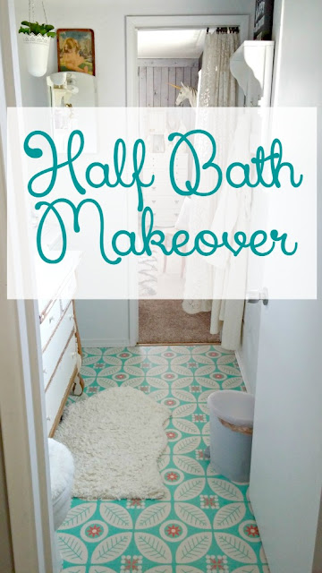 A dated 1980's bathroom gets a sweet makeover!