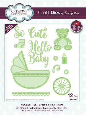 Creative Expressions Necessities Collection Baby's First Pram Dies CED23007