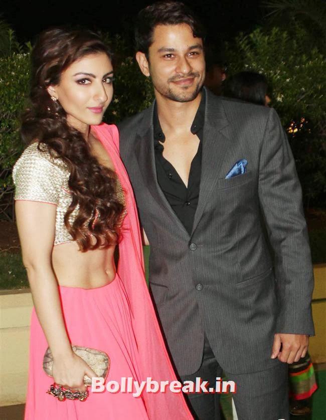 Soha Ali Khan and Kunal Khemu, Bollywood Babes at Vishesh Bhatt Wedding Reception