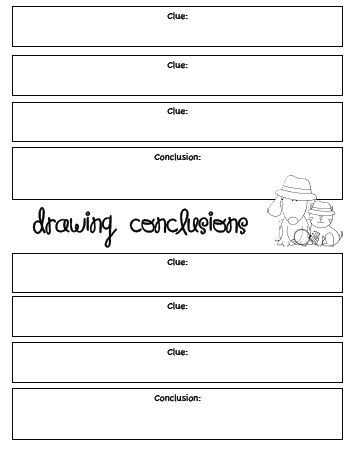 Click this link to get my new drawing conclusions graphic organizer practice page and center activities i hope you enjoy