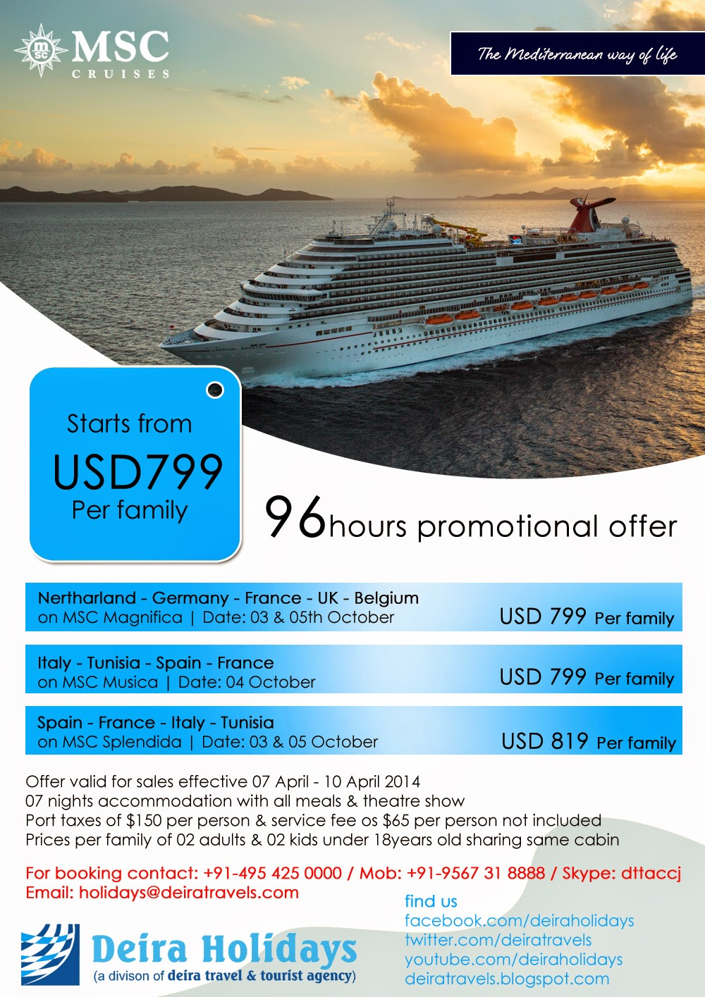 MSC Cruise Exclusive 96 hours Promotional Offer | Grab it