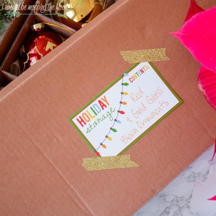 Free Printable Holiday Storage Labels