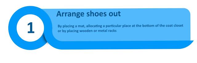 Arrange shoes out