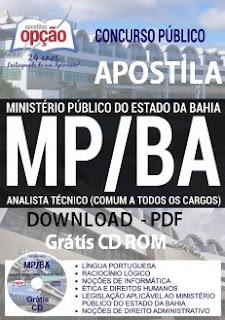 Apostila Ministério Público-BA 2017 cargo Analista Técnico MP-BA
