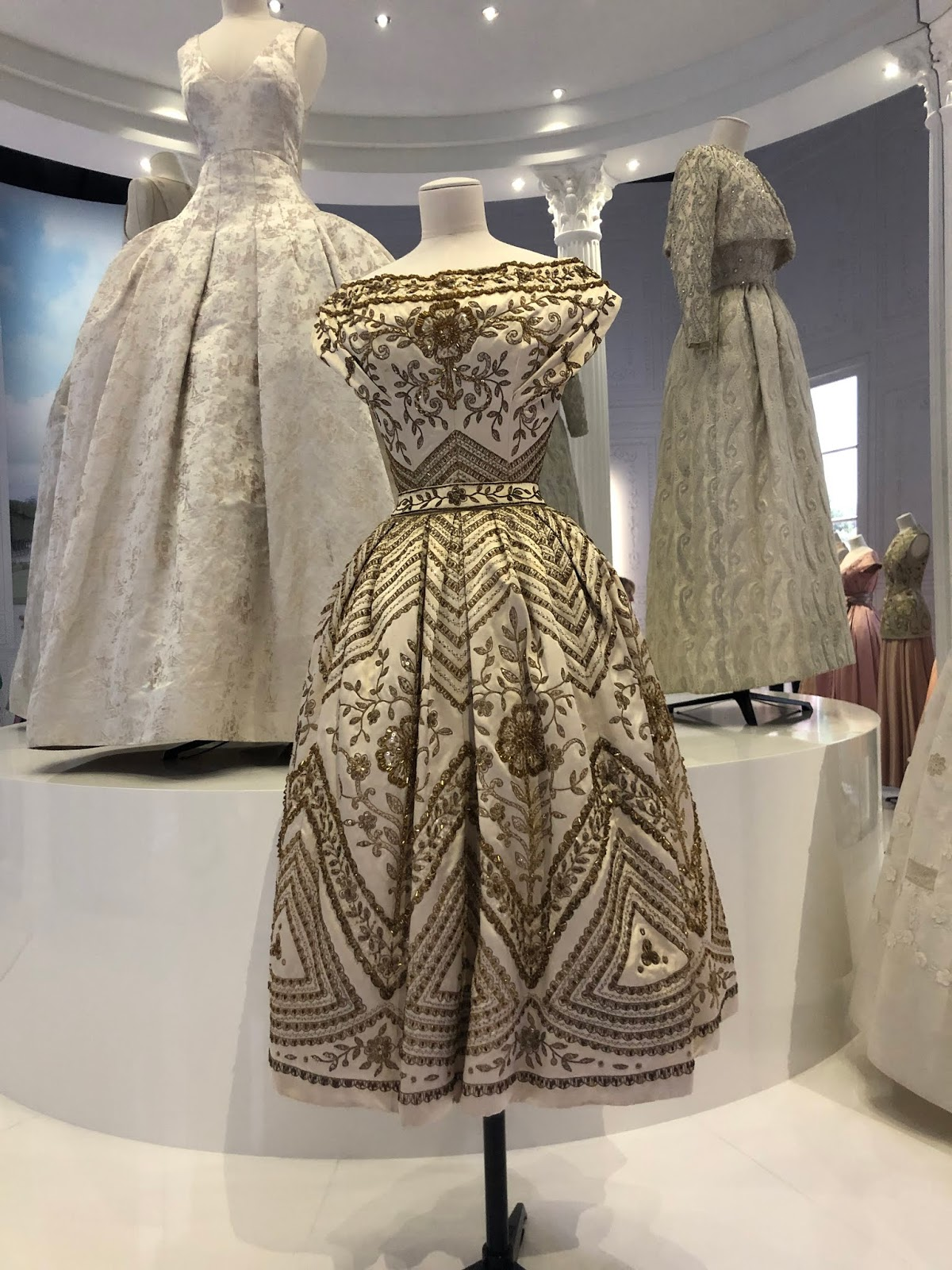 christian dior exhibition v and a embroidered dress