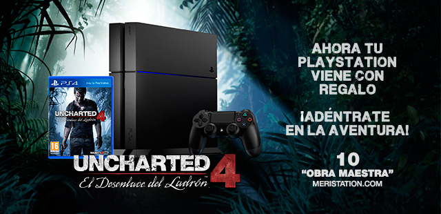 Llevate Uncharted 4 gratis con la compra de una PS4