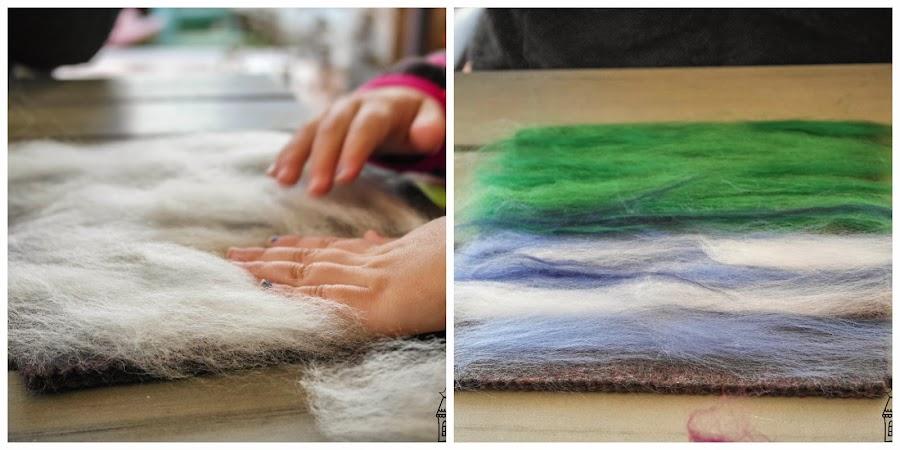 diy tapiz de lana tecnica