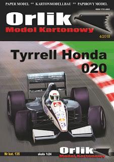 Tyrrell Honda 020 - Satoru Nakajima & Stefano Modena - Canadian GP 1991 (ORLIK)