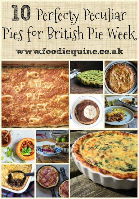 www.foodiequine.co.uk  A roundup of 10 Perfectly Peculiar Pie Recipes for British Pie Week