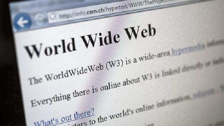 La primera página web creada por Tim Berners-Lee