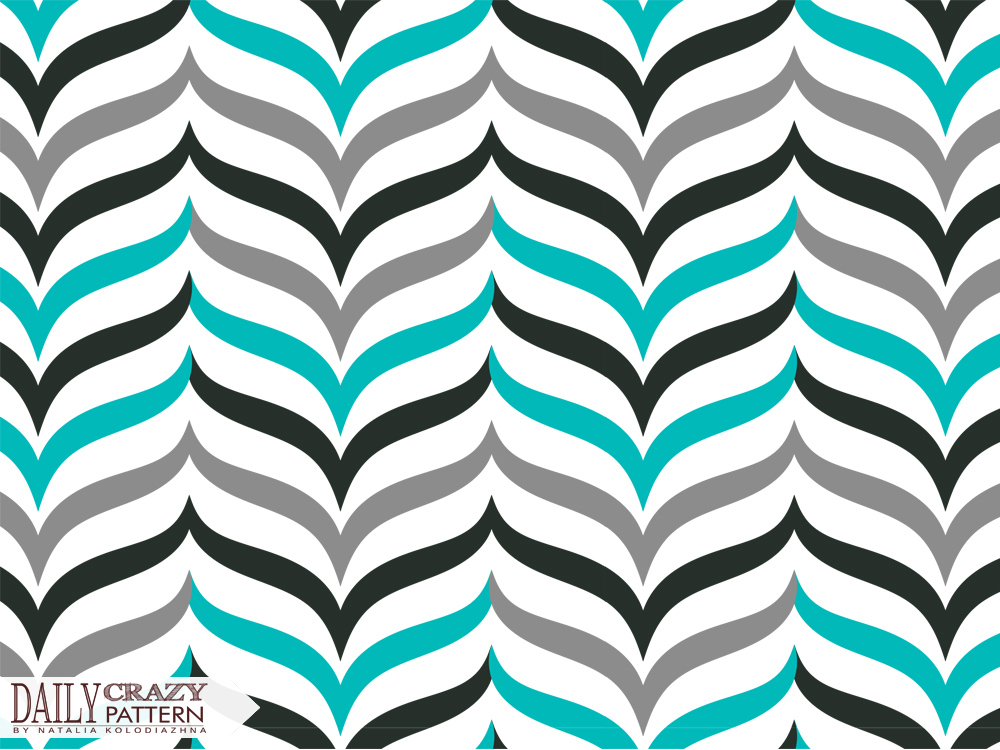 "Stylish wavy pattern for ""Daily Crazy Pattern"" project  
