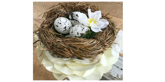 Candlestick Bird's Nest Spring Decor