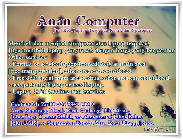 laptop 2nd area Kota Tinggi,Pasir Gudang, Johor Bahru