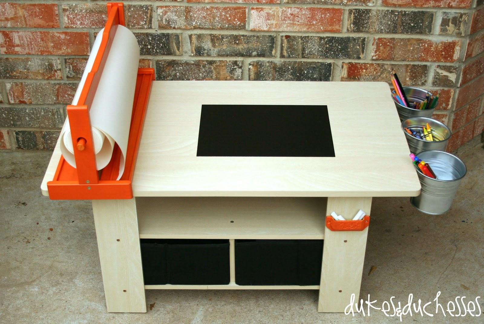 DIY Art Table - Dukes and Duchesses