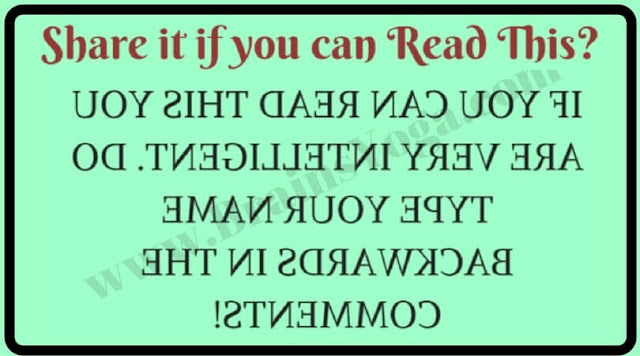 Can you read backward?