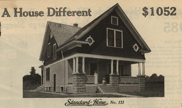 gordon van tine no 121 in the 1916 standard homes catalog
