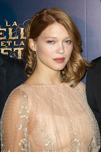 Léa Seydoux at the premiere of Beauty and the Beast