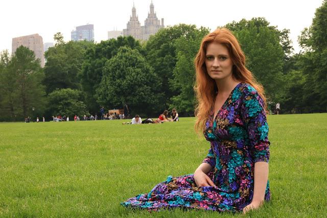 manhattan piknik w central parku wiosna w nowym jorku