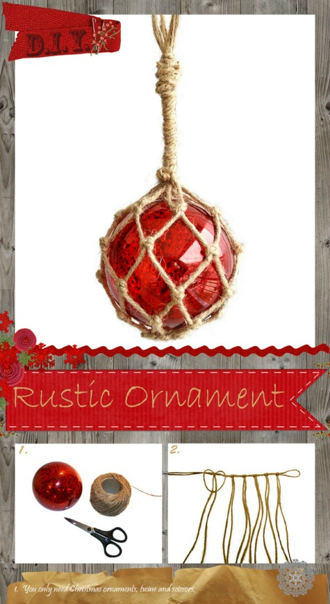 Homemade DIY Glass Float Ornament