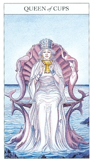 Queen of Cups, Sharman-Caselli Tarot