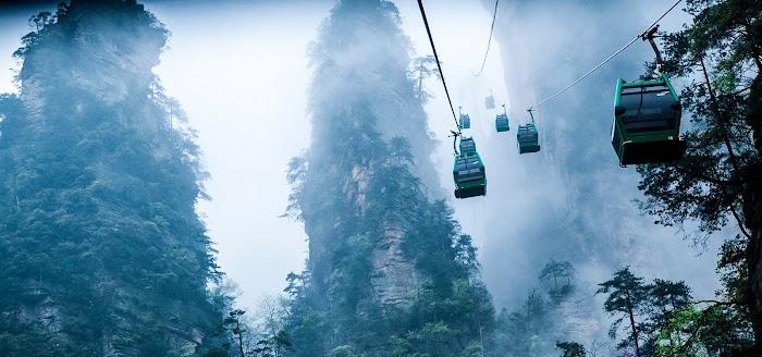Amazingexplore Zhangjiajie Cable Slider Crossing Wulingyuan