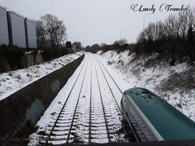Snowfall Dublin, Ireland