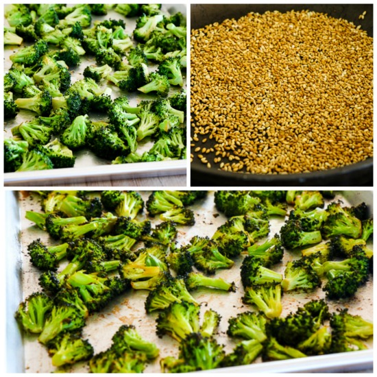 Quick Roasted Broccoli with Soy Sauce and Sesame Seeds found on KalynsKitchen.com