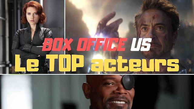 Un top 3 composé de Samuel L. Jackson, de Robert Downey Jr. et de Scarlett Johansson