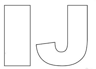 Moldes de letras I e J