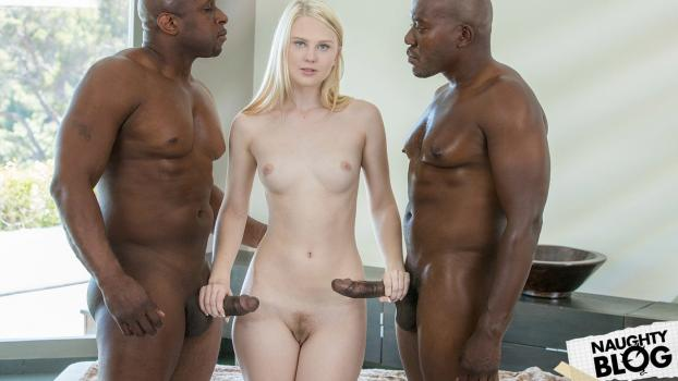 Blacked – Lily Rader: Young Girl Tries Threesomes with Two BBC