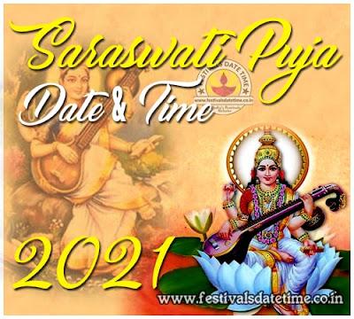 2021 Saraswati Puja Date & Time in West Bengal & India