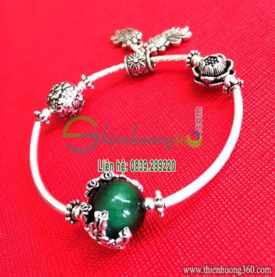 Vòng đeo tay phong thủy bạc Thái 925