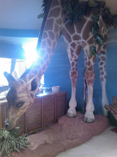 Giraffe in Chessington Resort Hotel