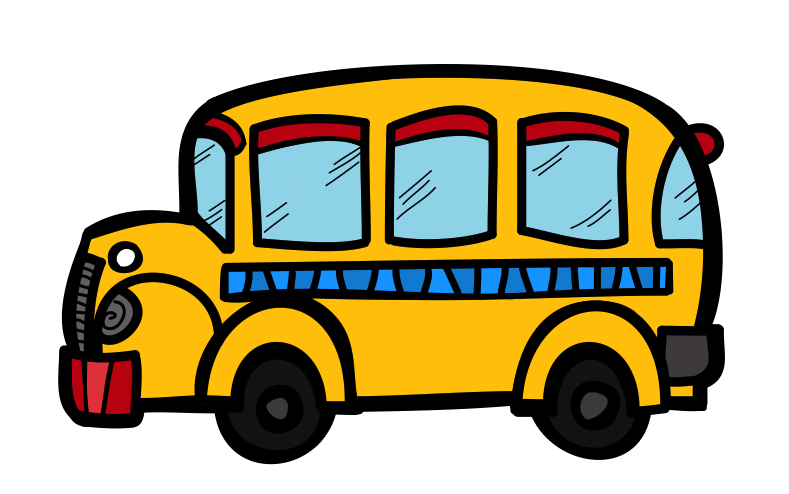 The Creative Chalkboard: Free School Bus Clipart and KIDS ...