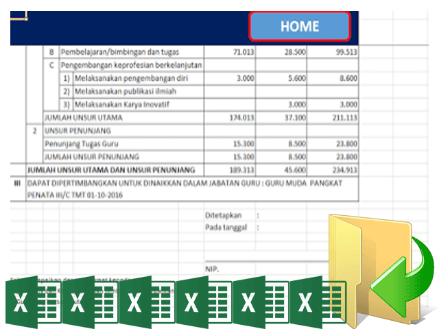 Aplikasi Dupak Terbaru Format Excel [ Xlsx ]