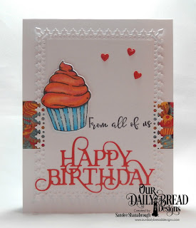 Our Daily Bread Designs Stamp/Die Duos: All God's Blessings, Custom Dies: Happy Birthday Caps, Clouds and Raindrops, Lavish Layers, Paper Collections: Birthday Bash, Birthday Brights