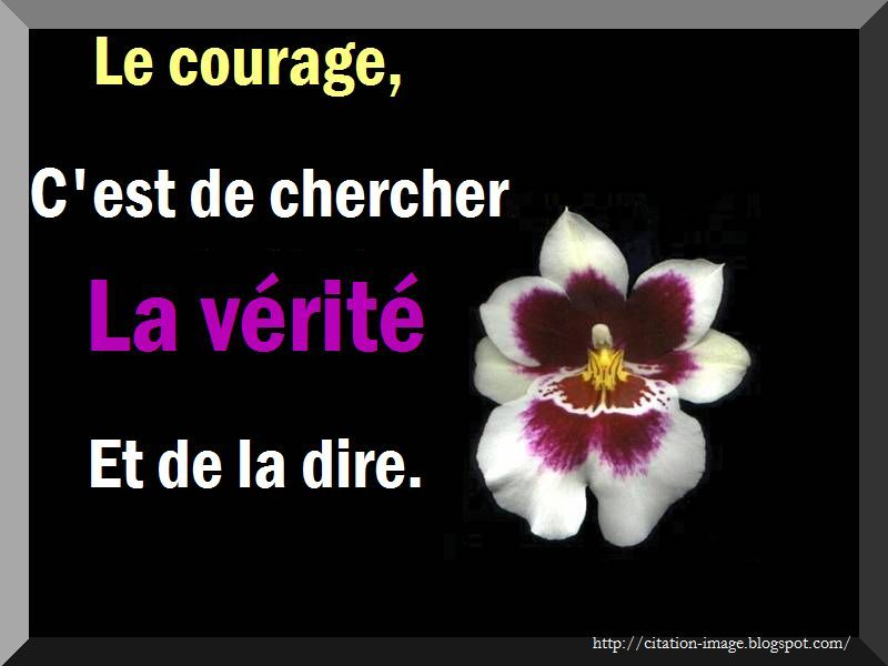 Belle citation sur le courage ~ Citation en image : photo citation